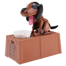 Funny Paper Money Box Case Piggy Bank Novelty Gift - Brown&Black Hungry Dog