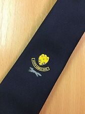 Vintage Barclays Bank Leicester Business Centre Neck Tie (Blue) - printed motif
