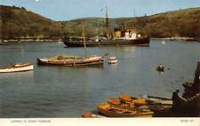 Shipping in Fowey Harbour, Cornwall, Ship, Boats, Real Colour Photograph