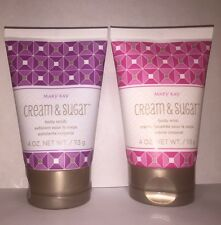 Mary Kay® Cream & Sugar Body Gift Set ~Body Scrub and Body Whip 4 oz ea