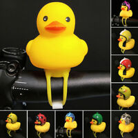 Yellow Duck With Helmet Bicycle Bell Ring For Car Cycling Horn Alarm Adult Kids