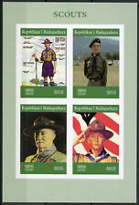 More details for madagascar scouting stamps 2019 mnh boy scouts baden-powell 4v impf m/s