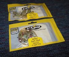 "12 STORM WildEye Swim Shad 2"" Holographic Pearl Color 2 - 6 Packs Pre Rigged NEW"