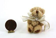 Dollhouse Miniature 1:12 Artisan Soft & Fuzzy Teddy Bear with White Ribbon Bow