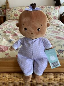"""Little Town Aldi Baby Girl soft cuddly toy plush doll from birth.   15"""" Tall"""