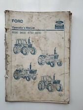 FORD NEW HOLLAND 8530 8630 8730 8830 TRACTOR OPERATORS MANUAL