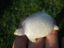 Natural stone Jade Turtle carving Thailand art A9