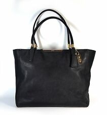 COACH 29002 Madison East West Crossgrain Saffiano Leather Tote in Black