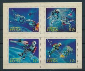 [104077] Bhutan 1967 Space travel Plastic 3D effect Perf 9½ Mini sheet RARE MNH