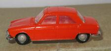 I old made in france 1966 micro norev oh 1/87 peugeot 204 orange #532