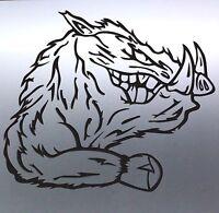 Beast pig vinyl cut sticker boar warthog Large 4X4 animal aussie made & designed
