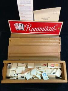Vintage 1977 Rummikub Tile Game with Case Made in Israel Complete w Rules