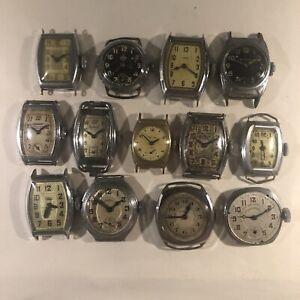 Bakers Dozen (13) Vintage Dollar Watch lot! Parts, Art or Restore. No Reserve!