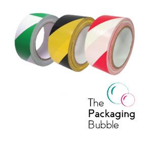 Hazard Warning Tape Rolls Self Adhesive Marking Barrier Safety Social Distancing