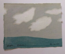 """Richard Kemble woodcut print """"clouds 1"""" signed limited edition of 150"""