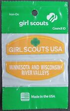 (12) Girl Scout DAISY Minnesota & Wisconsin River Valleys Council ID Set Patches