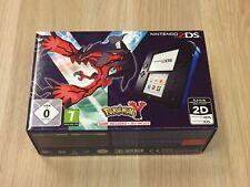 Nintendo 2DS Pokemon Y Limited Edition Blau & Schwarz ** NEU & VERPACKT **