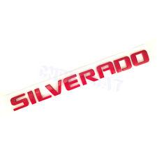 Chevrolet Silverado 1500 2500 3500 Red SILVERADO Door Tailgate Emblem Nameplates