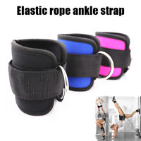 2pcs Ankle D Ring Straps Gym Weight Lift Fitness Exercise Cuff Pulley Attachment
