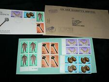 Vintage Stamps Fiji Artifacts Australia First Day Issue Set 4 per sheet