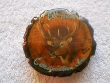 Elk Horn Construction Advertising Wood Belt Buckle Robyn Richards