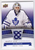 2017 Toronto Maple Leafs Centennial Ed Belfour Jersey Materials 17-18