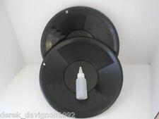 """(2) SE 12"""" PANNING GOLD PAN & SNIFFER BOTTLE - BLACK"""