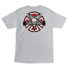 Independent x Thrasher Pentagram Cross Skateboard T Shirt Ash Xxl