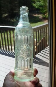 """Vintage Val Blatz Beer Brewing Embossed Clear Glass Bottle 8 ½"""" Tall"""