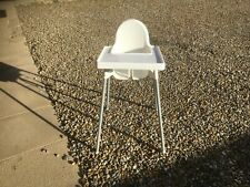 IKEA Antilop High Chair with Tray and straps - Silver Red & white