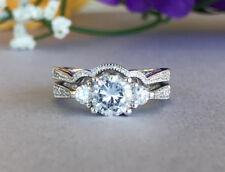 Certified 2.60Ct White Round Cut Diamond Engagement Wedding 14K White Gold Ring