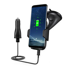 Fast 10W Car Charger Qi Wireless Charging Holder Cradle Mount For iPhone 8 XR XS