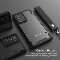 For Galaxy Note 20 Ultra Case VRS®[Crystal Mixx Pro] Carbon Pattern Clear Cover