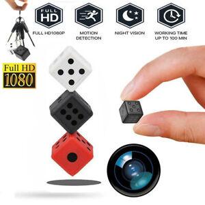 Dice Spy Hidden DVR Camera 1080P Mini Keychain Cam Microphone Recorder Security