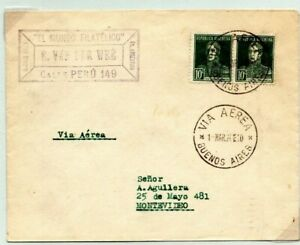 ARGENTINA Air Mail Cover *JUNKERS MISSION* Buenos Aires Uruguay 1926 EP409