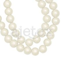 150pcs Ivory White Glass Pearl Spacer Beads Round 6mm Jewelry Making OBSGP2-2
