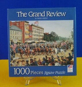 Great American Puzzle Factory 1000 Pcs Jigsaw Puzzle The Grand Review March 1865