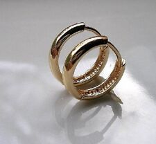 GENUINE Solid 9ct gold hoop earrings gf DONT MISS OUT {00070}