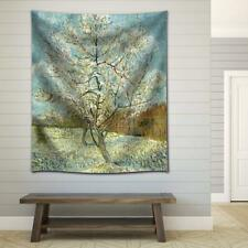 """Wall26 - """"The Pink Peach Tree"""" by Vincent Van Gogh Fabric Tapestry- 51x60 inches"""