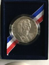 2009 P Abraham Lincoln Uncirculated Silver Dollar with Box & COA