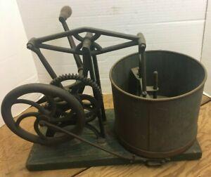 ANTIQUE PATENTED 1865 STARRETTS #1 MECHANICAL CAST IRON MASHER CHOPPING MACHINE