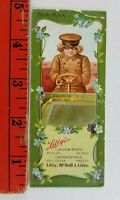 Vintage Libby's McNeill Foods Girl Driving Car Chicago Illinois Bookmark