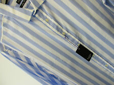 "Paul Smith Chemise Habillée SLIM FIT 17"" Eu43 ""LONDON"" BLEU RAYURE SUCRE D'ORGE"