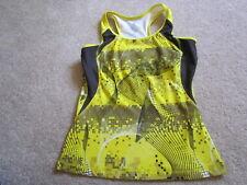 Energy Zone Women's yellow gray bra top M  yoga run kickboxing tennis pilates
