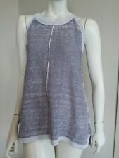 525 america grey washed out knit sleeveless top tee vest sz S NWOT