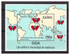 0220 Zaire 1990 Fight against AIDS SIDA S/S MNH