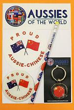 PROUD AUSSIE - CHINESE GIFT AUSTRALIAN KEYRING MAGNET STICKER CHINA SOUVENIR