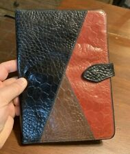 Red/Black Crocodile Print Portfolio Folio iPad Tablet Case Lord & Taylor Italy