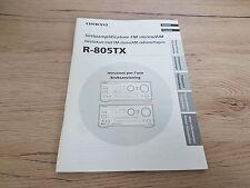 Originale Onkyo Bedienungsanleitung  für R-805TX für Italien und Schweden