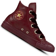 2e1a1a40486ad2 Converse Chuck Taylor All Star Hi Damen-Sneaker Leder Turnschuhe Chucks  Schuhe